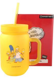 Mini Caneca Pote Família Simpson Amarelo Zona Criativa