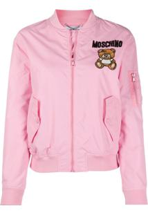 Moschino Sequin Teddy Bomber Jacket - Rosa