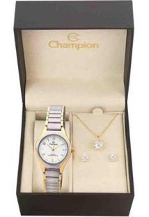 Kit Relógio Analógico Feminino Social Champion Ch26917D - Feminino