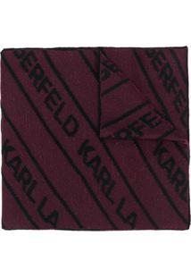 Karl Lagerfeld Cachecol Com Logo - Rosa