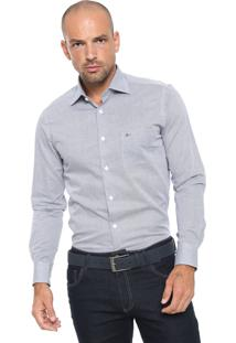 Camisa Aramis Reta Bolso Azul/ Branca