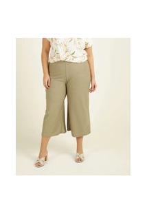 Calça Plus Size Feminina Pantacourt Textura Marisa