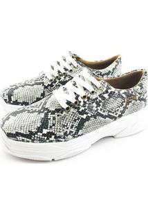 Tênis Chunky Quality Shoes Feminino Phyton Preto E Branco 40