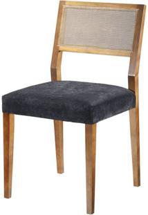 Cadeira Caiscais Encosto Em Tela Cor Nogal - 37383 - Sun House