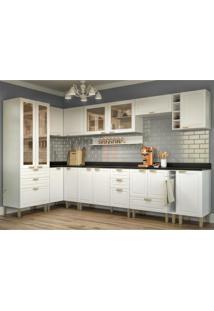 Cozinha Completa 13 Peã§As Americana Multimã³Veis 5646 Branco - Branco/Incolor - Dafiti