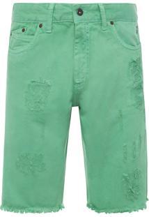 Bermuda Masculina Denim Color - Verde