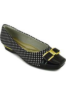 20b8aa89390 ... Sapato Piccadilly Micro Fibra - Feminino-Preto+Branco
