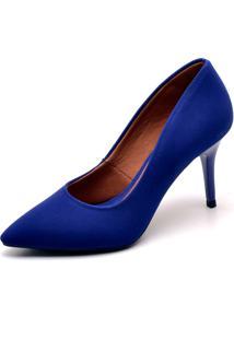 Scarpin Ellas Online Salto Médio Azul - Kanui