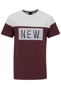 Camiseta Newskate Ash - Masculina - Cinza/Vinho