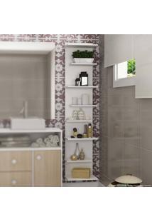 Estante Para Banheiro 8 Prateleiras Branco - Urbe Móveis