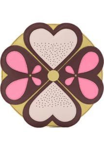 Sarah Chofakian Bolsa Clutch Mandala Em Couro - Dourado