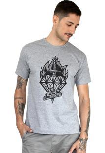 Camiseta Bleed American Diamond Cinza Mescla