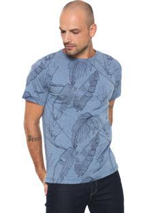 Camiseta Fiveblu Folhas Azul