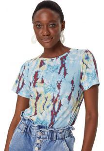 Amaro Feminino T-Shirt Ampla Estampada, Colorful Tie Dye
