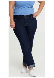 Calça Feminina Jeans Stretch Reta Plus Size Marisa