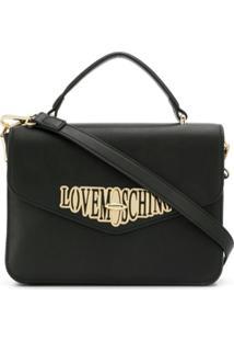 Love Moschino Bolsa Envelope Com Logo - Preto