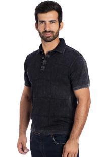 Camisa Polo Frames Le Tisserand Black Stone