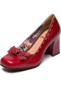 Sapato Feminino Vermelho Sophia Loren - Amora / Marsala 5978 - Kanui