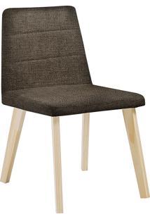 Cadeira Caju F58-1 Linhão – Daf Mobiliário - Marrom
