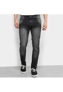 Calça Jeans Skinny Ecxo Estonada Black Masculina - Masculino-Preto