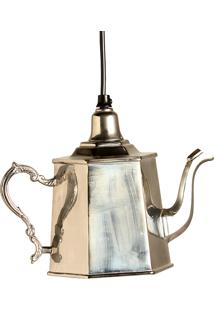Luminária Pendente Bule Dorothy De Metal Para 1 Lâmpada Bivolt