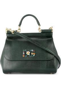 Dolce & Gabbana Bolsa Tote Sicily Média - Verde