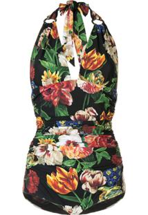 Dolce & Gabbana Maiô Decote Em V Profundo - Preto