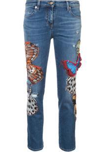 Roberto Cavalli Calça Jeans Skinny - Azul