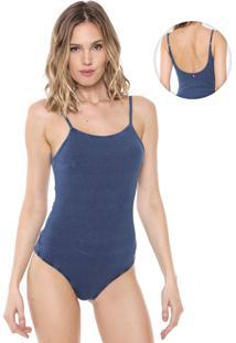 Body Jeans Eventual Liso Azul