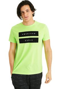 Camiseta Manga Curta American Eagle Verde