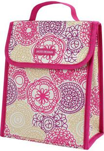 Bolsa Térmica Mandala - Pink & Branca - 19X23X13Cmjacki Design