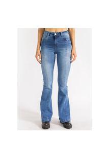 Calça Stretch Julia Flare Média La Lima-38 Jeans