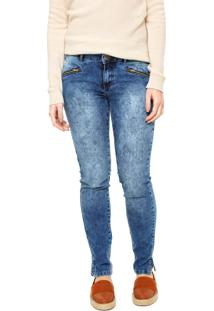 12c222149f Dafiti. Calça Jeans Enfim Skinny Estonada Azul