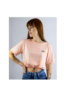 Camiseta Cropped Toneh Regulador Rosa Rosa