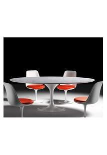 Mesa Jantar Saarinen 1,98X1,22 Marmore Carrara Branco 19560 Branco