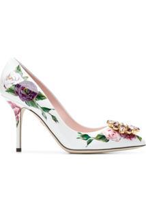 Dolce & Gabbana Scarpin 'Bellucci' De Couro - Branco