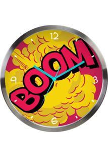 Relógio De Parede Fábrica Geek Boom Multicolorido