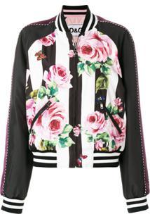 Dolce & Gabbana Jaqueta Bomber 'Farfalle Rosa' - Preto