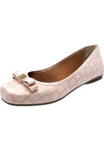 Sapatilha Romântica Calçados Laço Strass Rosa - Kanui
