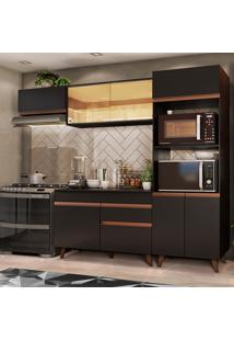 Cozinha Completa Madesa Reims Xa260001 Com Armã¡Rio E Balcã£O - Preto Preto - Preto - Dafiti