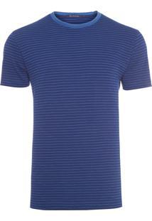 Camiseta Masculina Stripes - Azul