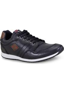 Sapatenis Masc Ped Shoes 15000-A Preto/Tabaco
