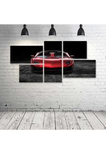 Quadro Decorativo - Red-Cars-Lamborghini-Front-Metallic - Composto De 5 Quadros - Multicolorido - Dafiti