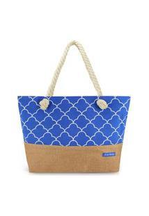 Bolsa De Praia Jacki Design -Azul