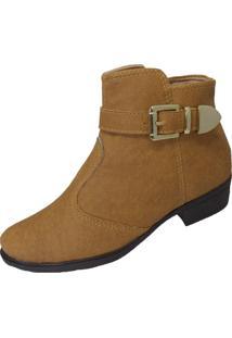 Bota Moda Pã© Ankle Boots Caramelo - Caramelo - Feminino - Sintã©Tico - Dafiti