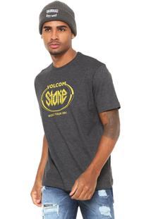 Camiseta Volcom Stick It Cinza