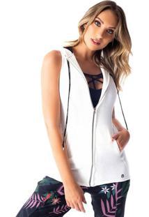 Colete Com Bolsos - Branco - Vestemvestem
