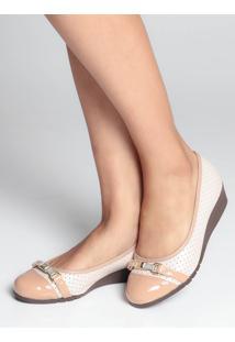 Sapato Anabela Moleca Micro Furos