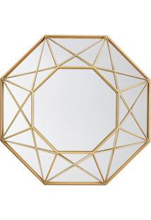Espelho Geométrico Metalizado- Espelhado & Dourado- Mart