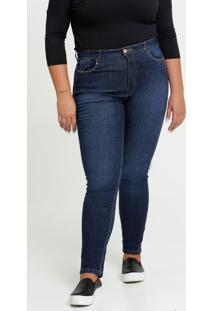 Calça Jeans Skinny Tachas Plus Size Razon